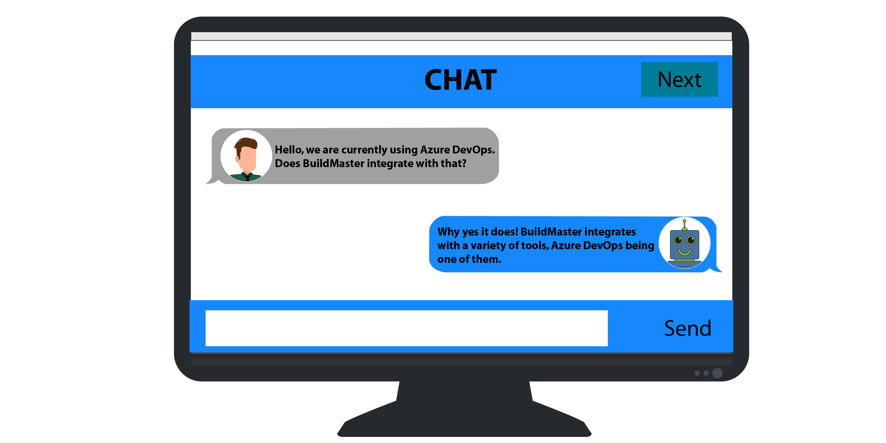 ChatBot being used to answer real-time questions