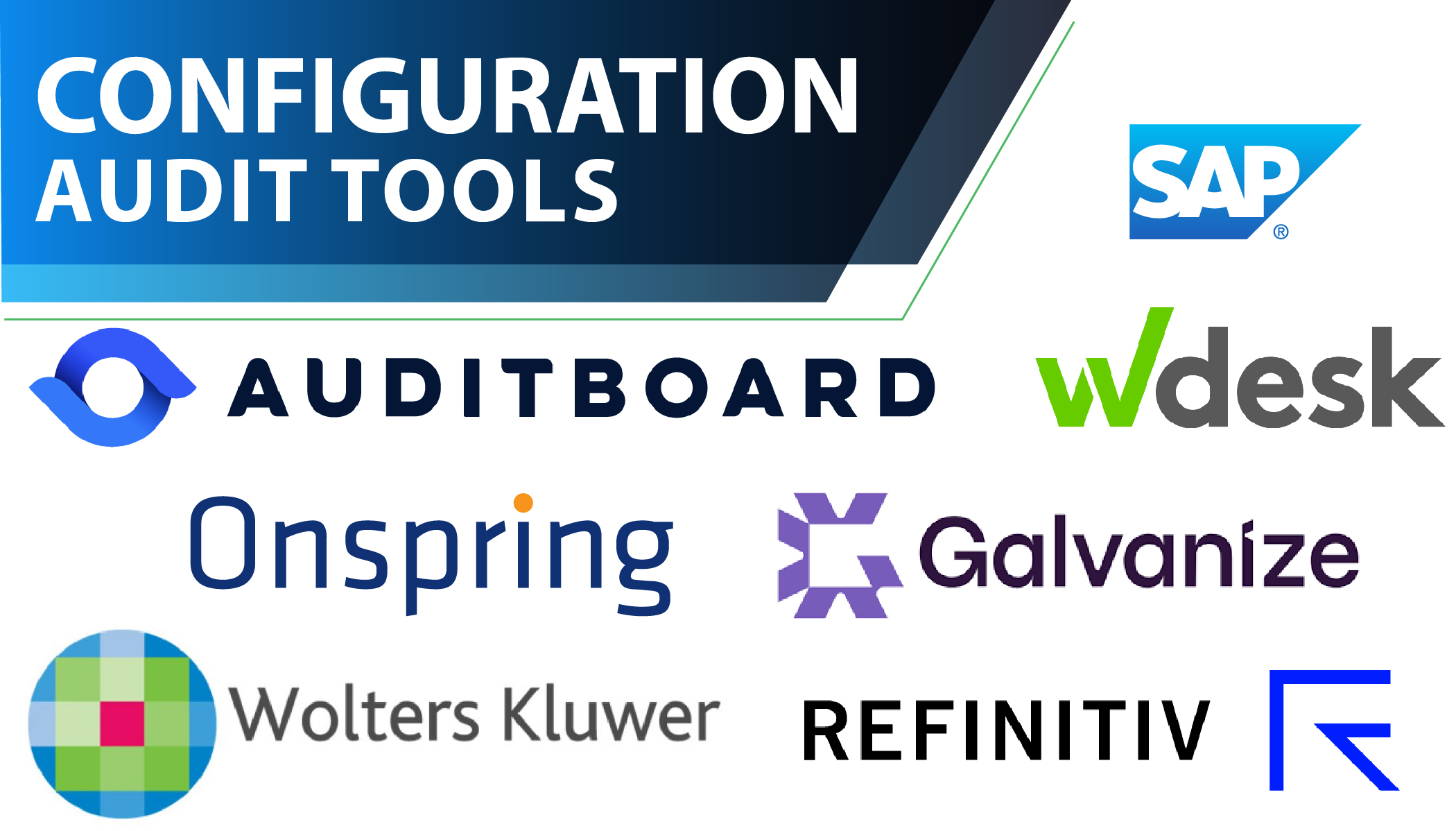 logos of the top configuration audit tools
