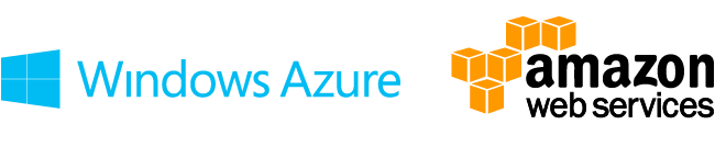 Images of Windows Azure and AWS Company Logos